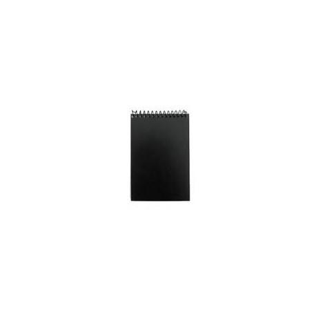 Taskulehtiö A7/50  0197 musta muovikansi