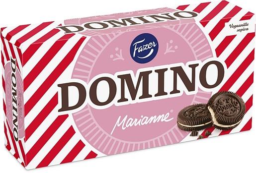 Domino Marianne kaakaokeksi, piparmintturouhetäyte, 350g