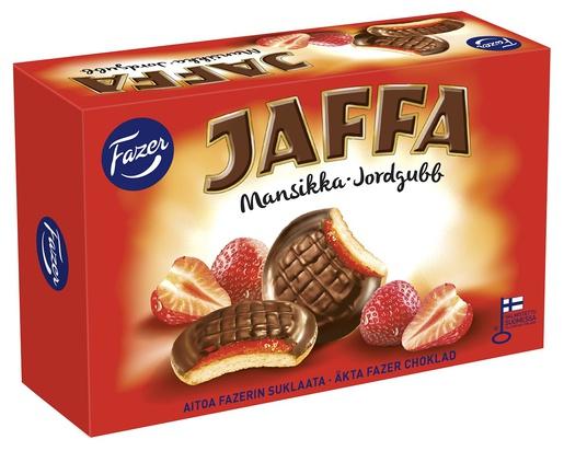 Fazer Jaffa Mansikka täytekeksi, 300g