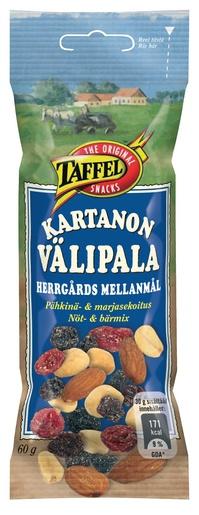 Taffel Kartanon Välipala 60g pähkinä- ja marjasekoitus