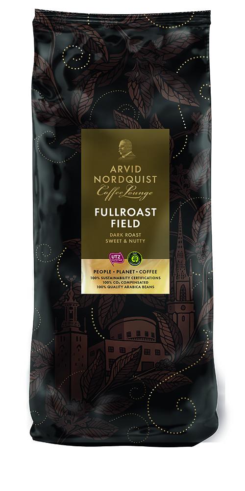 ARVID NORDQUIST Fullroast Field kahvi, tumma, UTZ, 6x1 kg papu