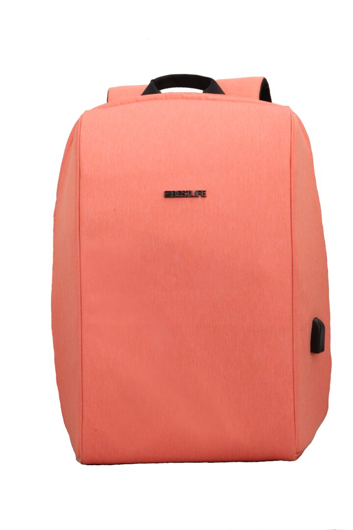 BESTLIFE Reppu TravelSafe Lorcha 15.6'' USB + Type-C coral