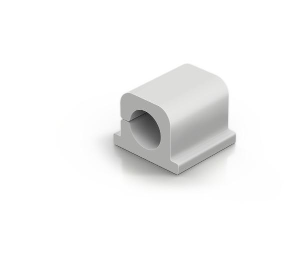 Durable CAVOLINE Clip Pro 1 harmaa kaapelinpidin, 6 kpl/pkt