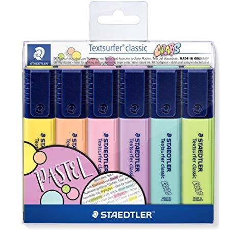 Korostuskynä Textsurfer Classic pastelli, 6 väriä, 364CWP