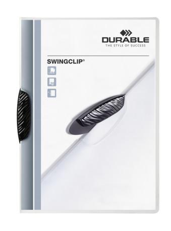 Durable Swingclip musta kokouskansio, 25 kpl/pkt