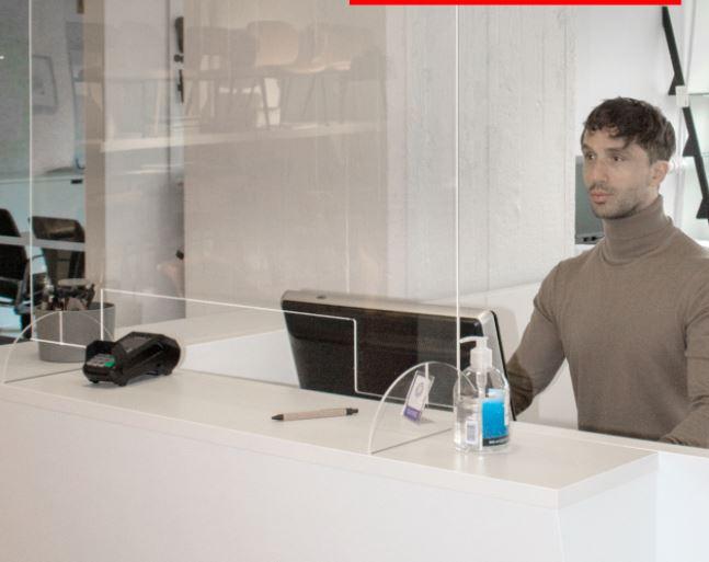 Modeo Plex-suoja 80x75cm, pöytämalli