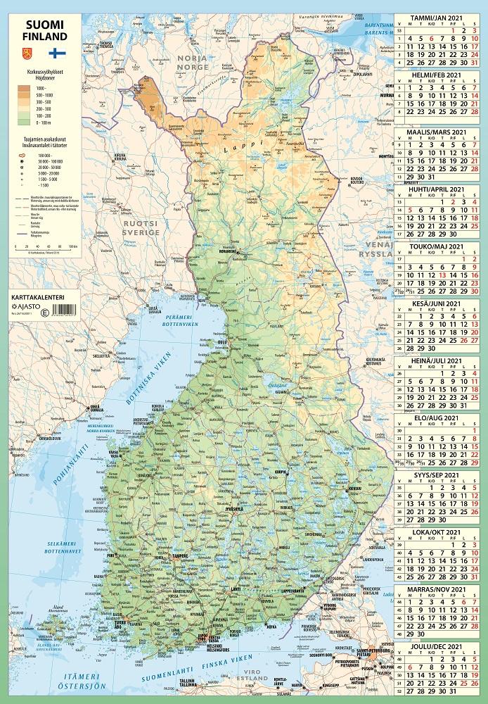 Karttakalenteri 2021