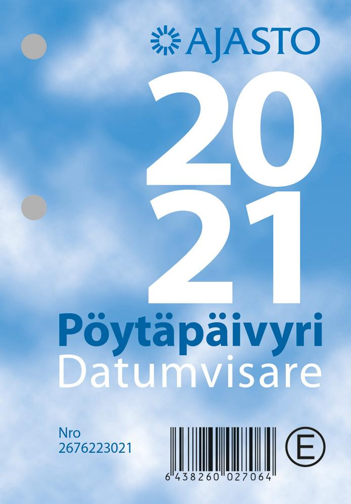 Pöytäpäivyri/Datumvisare 2021