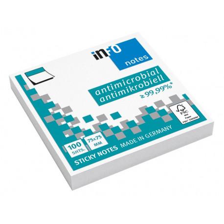 Viestilappu inFO Hygienic 75 x 75 mm valkoinen, 12 kpl/pkt