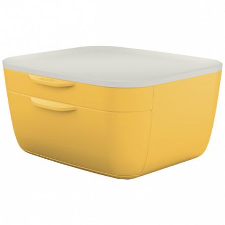 Leitz Cosy 2-ltk vetolaatikosto keltainen