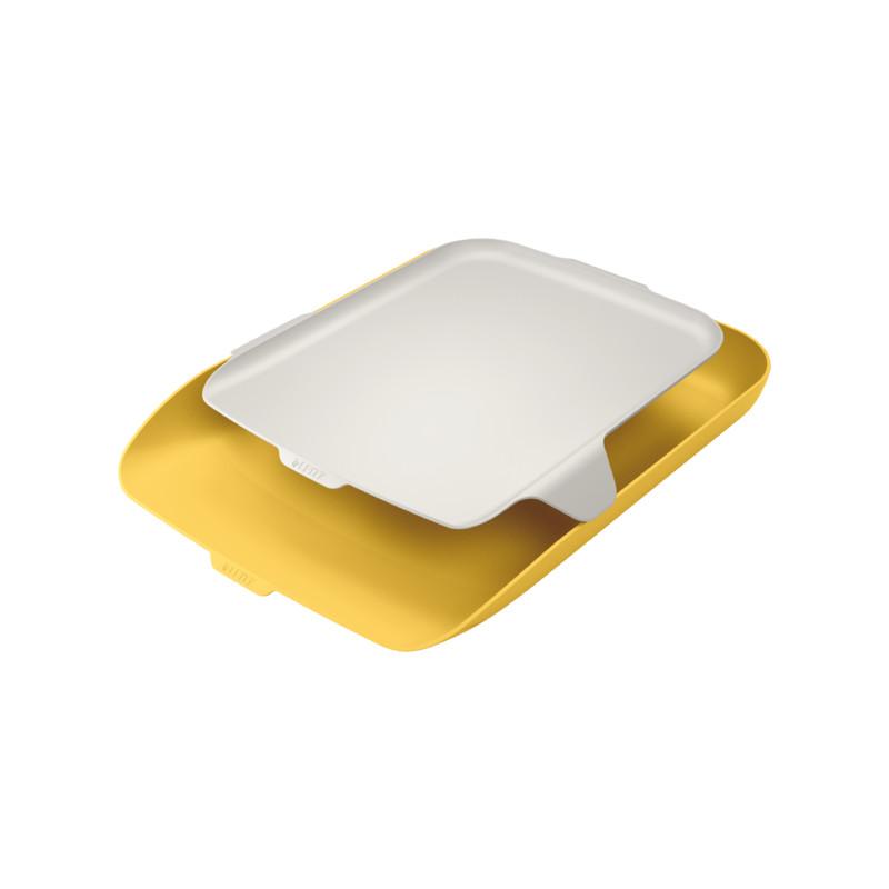 Leitz Cosy lomakelaatikko + tarvikehylly keltainen