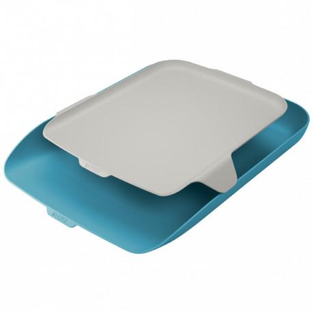 Leitz Cosy lomakelaatikko + tarvikehylly sininen