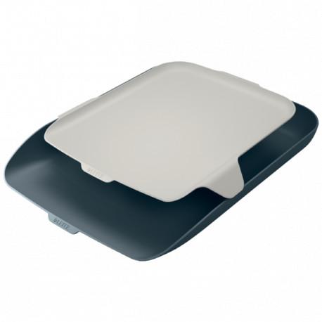 Leitz Cosy lomakelaatikko + tarvikehylly harmaa
