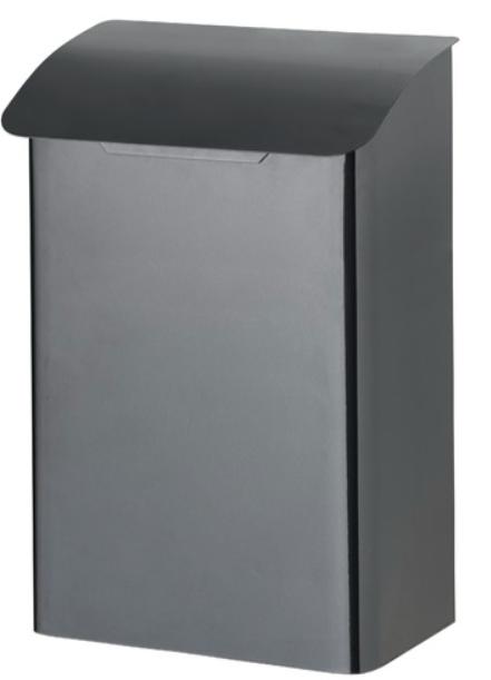 Metallinen postilaatikko lukollinen Musta