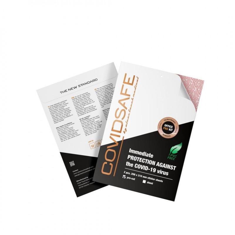 CovidSafe Office Pro Kit 2 x 208 x 310 mm ruusukulta