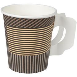 GASTRO-LINE Lines kahvikuppi 18/20cl korvalla, pahvi, ruskea 50 kpl/pss