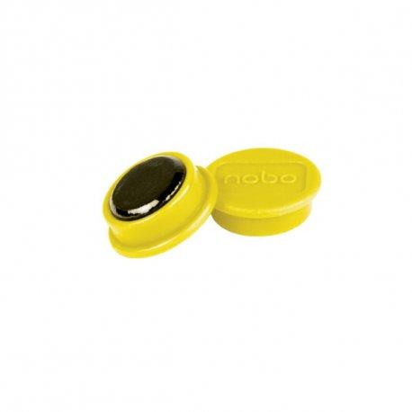 Nobo magneetti 24mm Keltainen, 10 kpl/pkt