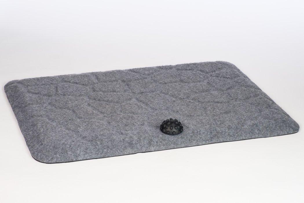 Stoo® Super Soft vaaleanharmaa työpistematto 76x52cm