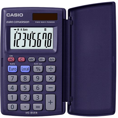 Casio HS-8VER taskulaskin, 8 numeron näyttö 140253