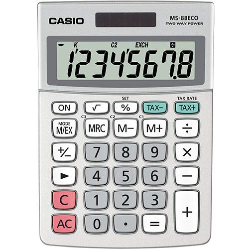 Casio MS-88 ECO Pöytälaskin, 8 numeron näyttö