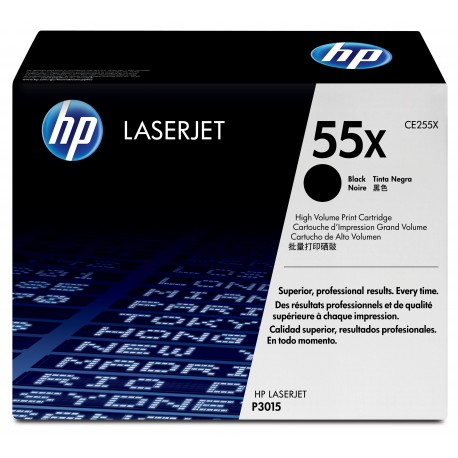 CE255X Black, HP LaserJet Enterprise MFP M525, P3015; LaserJet Enterprise Flow MFP M525