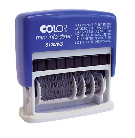 Colop S120/WD päiv.leimas itsevärjäytyvä vaihd.otsikoilla