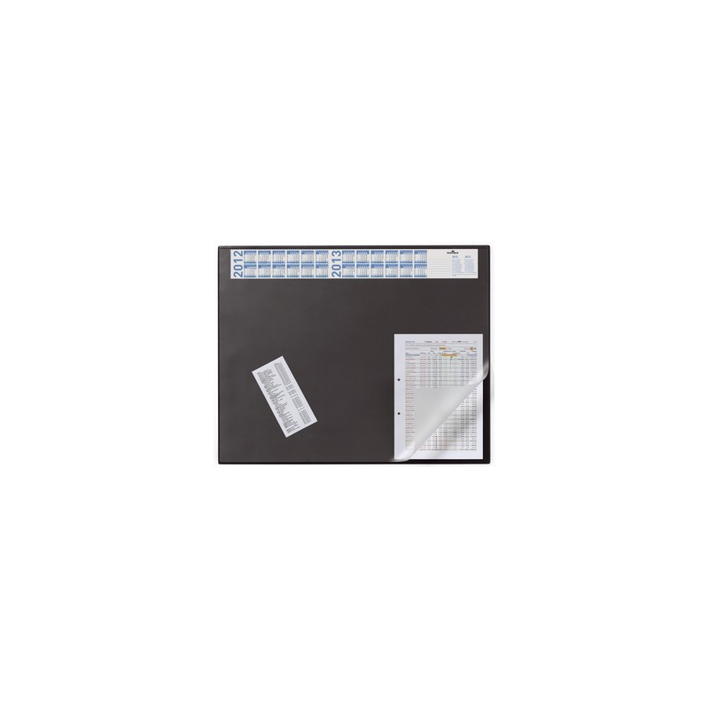 Durable kirjoitusalusta 65x52 kansiläppä,musta