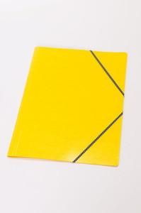 Kulmalukkokansio läpillä 108K Keltainen / 50147