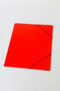 Kulmalukkokansio läpillä 108K Punainen / 50141
