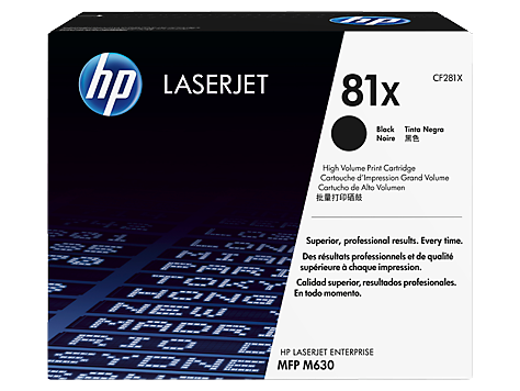 CF281X Black, HP LaserJet Enterprise MFP M630; LaserJet Enterprise Flow MFP M630