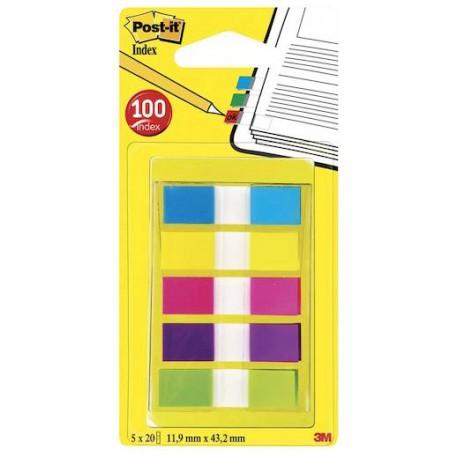 Post-it Index teippimerkki, värilajitelma 5x20 kpl, 683-5CB