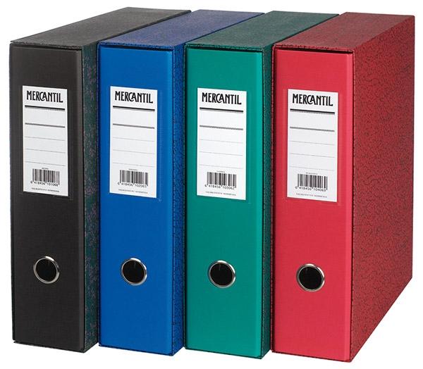 Kansio-Mercantil  A4 musta etikettitaskulla 1MAKT  20 kpl/ltk