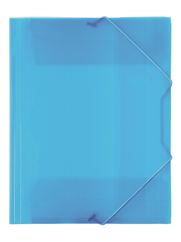 Kulmalukkokansio läpikuultava PP Sininen 421042