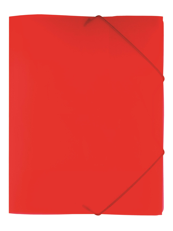 Kulmalukkokansio läpillä PP, läpikuultava, punainen