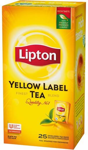 Lipton Tee Yellow label 25ps/ras 62586 (6 ras/ltk)