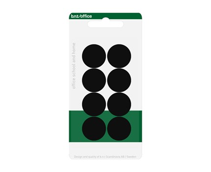 Magneetti 20mm Musta 884510 / 8 kpl/pkt