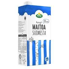 Arla 1 L Suomesta vähälaktoosinen UHT kevytmaito, 12 prk/ltk