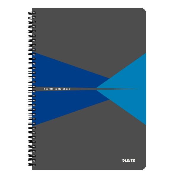 Muistikirja Leitz Office PP A4 viivat, sininen