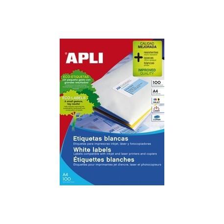 Apli 1280, 105x148 Kopio/laser Etiketti