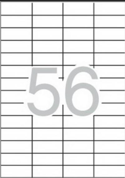 Apli 1284, 52,5x21,2 Kopio/laser Etiketti