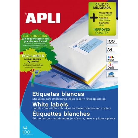 Apli 1295 70x50,8/1500 Kopio/laser Etiketti