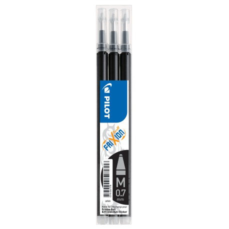 Pilot Frixion refill 0,7 musta 3-pack