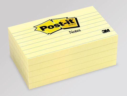 Post-it 635 76x127 viivoilla