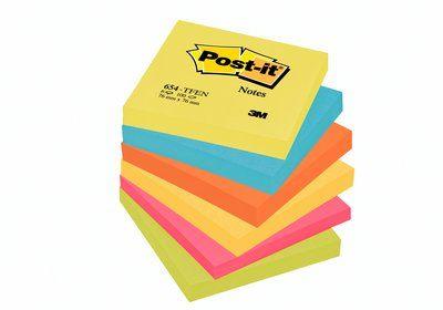 Post-it viestilappu, Energetic-värilajitelma, 76x76mm, 654TFEN