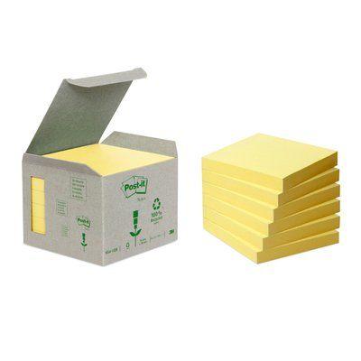 Post-it ekologinen 654 viestilappu, keltainen, 76 x 76 6 nid./pakk