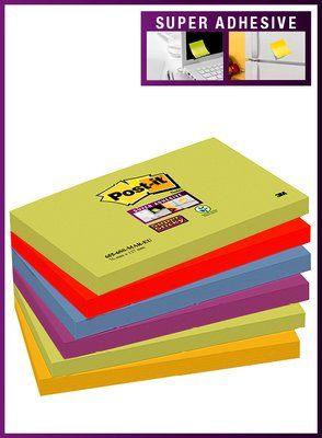 Post-It Super Sticky T655 MAR, 6 nid/pkt