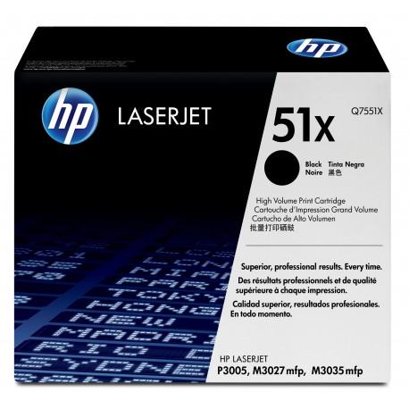 Q7551X Black, HP LaserJet M3027, M3027x, M3035, M3035xs, P3005, P3005d, P3005dn, P3005n, P3005x