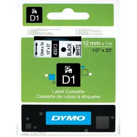 S0720530 Dymo D1 12 mm Musta/valkoinen 45013