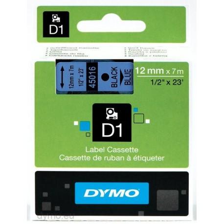 S0720560 Dymo D1 12 mm Musta/sininen 45016
