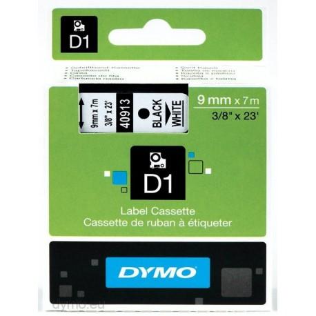 S0720680 Dymo D1, 9 mm Musta/valkoinen 40913